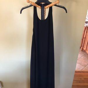 Long black high neck dress